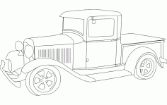 1932 ford pickup Free DXF Vectors File