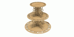 3 Step Cake Stand CNC Laser Cutting Free CDR File