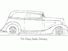 34 Chevy Sedan Delivery Free DXF Vectors File