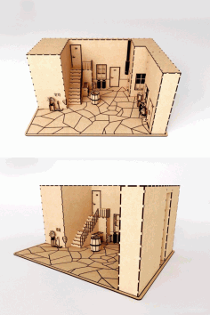 3D Puzzle Doll House CDR File