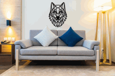 3D Sculpture Wolf Wall Art Polygon Art Wall Decor DXF File