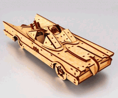 3D Wooden Car Puzzle Model Drawing Laser Cutting CDR File
