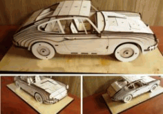 4 Seat Car Model for Laser Cut CNC DXF File