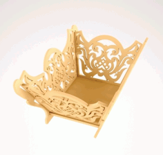 4mm Basket Design Laser Cut DXF File