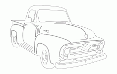 55 Ford Pu Laser Cut DXF File