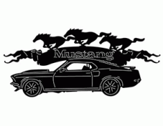 69 Mustang Car Silhouette DXF File