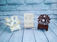 8 March Womens Day Gift Phone Stand Laser Cut CDR File