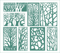 Abstract Victorian Tree Panel CDR File