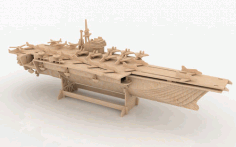 Aircraft carrier 3D Puzzle Free DXF File