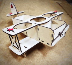 Airplane Model Beer Holder Laser Cut CDR File