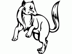 Animal Mascot 04 DXF File