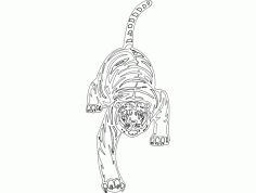 Animal Mascot Cheetah DXF File