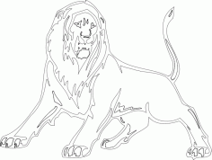 Animal Mascot Lion DXF File