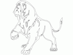 Animal Mascot Lion Template DXF File