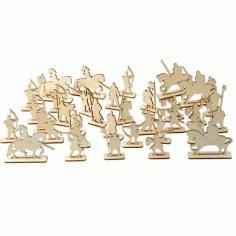 Army Toy Soldiers Miniature Figures Laser Cut Free CDR File