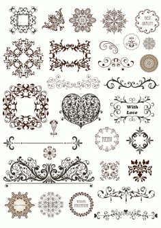 Art Nouveau Motif Panel CDR File
