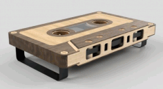 Audio Cassette Coffee Table CNC Plan Laser Cut Free CDR File