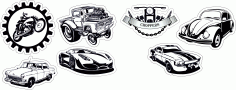 Auto Sticker Free CDR Vectors File