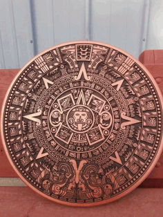 Aztec Calender Template Laser Cutting CDR File