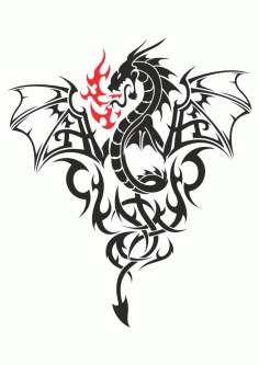 Baby Dragon Tattoo Vector Free CDR Vectors File