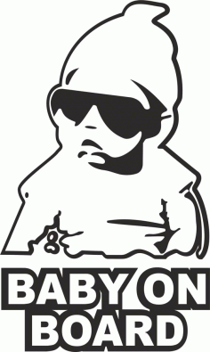 Baby On board Sticker CDR File