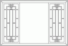 Back Door Frame Partition Garden for Laser Cut CNC CDR File