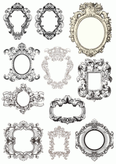 Baroque Frames Free CDR Vectors File