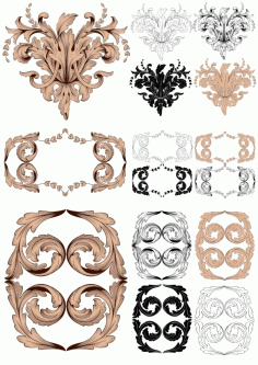 Baroque Vector Vintage Elements For Design Free CDR Vectors File