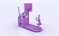 Basketball Shape Pen Holder Stand 3mm Laser Cut CDR File