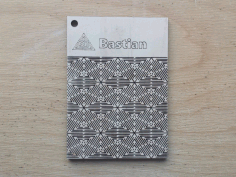 Bastian Pattern Living Hinge Template for Laser Cut DXF File