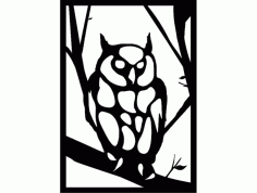 baykuş 3 (owl) Free Dxf For Cnc DXF Vectors File