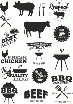 BBQ Animal Vector Set free CDR Vectors File