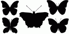 Beautiful Butterfly Silhouette CDR File