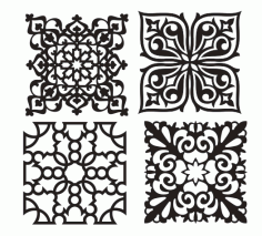 Beautiful Decorative Pattern for Laser Cut CNC CDR File