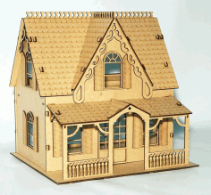 Beautiful House Laser Cut Free CDR File