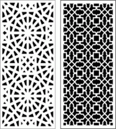Beautiful Living Room Baffle Pattern for Laser Cut CNC CDR File