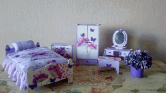 Bedroom Doll Furniture CNC Laser Cutting Free CDR Vectors File
