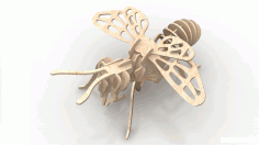 Bee 1.5mm 3d Insect Puzzle Download Free Vectors DXF File