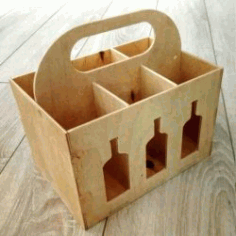 Beer Box Caddy for Laser Cut CNC DXF File