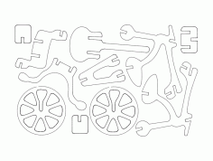 Bicycle Free Vector DXF File
