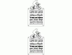 Bicycle Quot Template DXF File