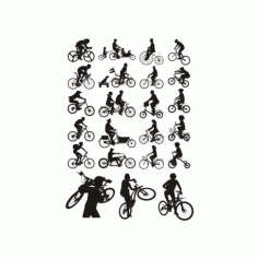 Bicycles Silhouettes CDR File