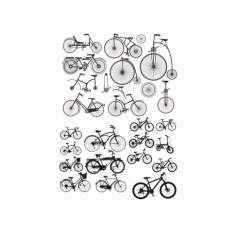 Bicycles Stickers CDR File
