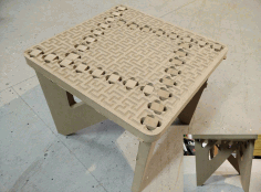 Binary tree foot stool CNC Laser Cut Free DXF File