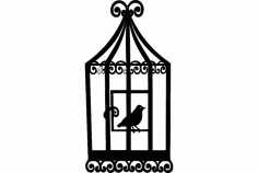 Bird Cage 2 Free Dxf File For Cnc DXF Vectors File