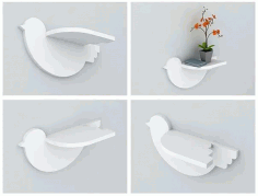 Bird Shelf CNC Laser Cutting Free CDR Vectors File