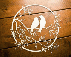 Bird Wall Hanging Decoration CNC Laser Cutting Free CDR File