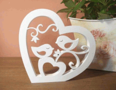 Birds Pair in the Heart DXF File