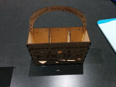 Birthday Box with Handle 3mm Plywood Template Laser Cut CDR File