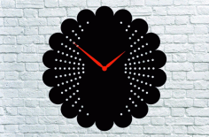 Black Wall Clock Laser Cutting CDR File